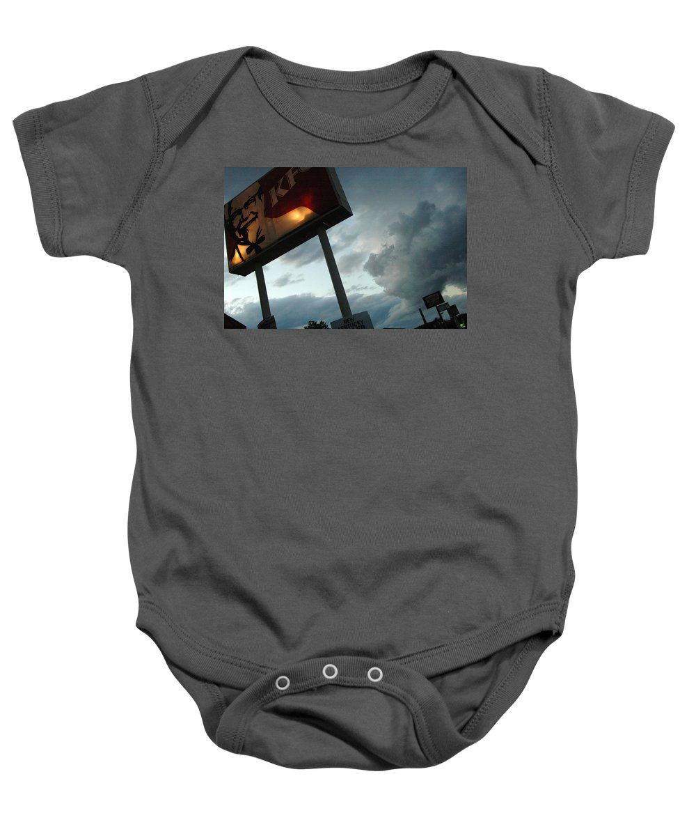 Sky Baby Onesie featuring the photograph Evil Colonel by Trish Hale