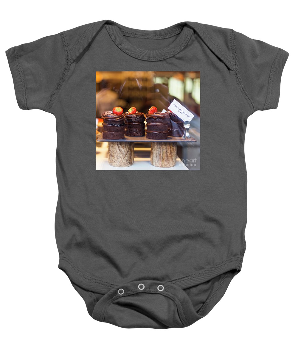 Cakes Baby Onesie featuring the photograph Evil Love by Alex Art and Photo