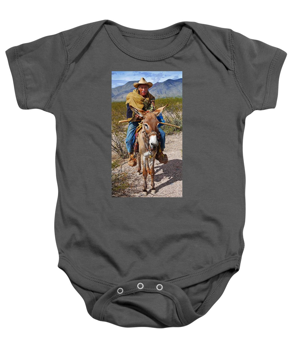 Skip Hunt Baby Onesie featuring the photograph Evuli by Skip Hunt