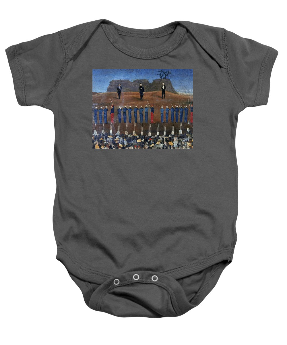 1867 Baby Onesie featuring the photograph Execution Of Maximilian by Granger