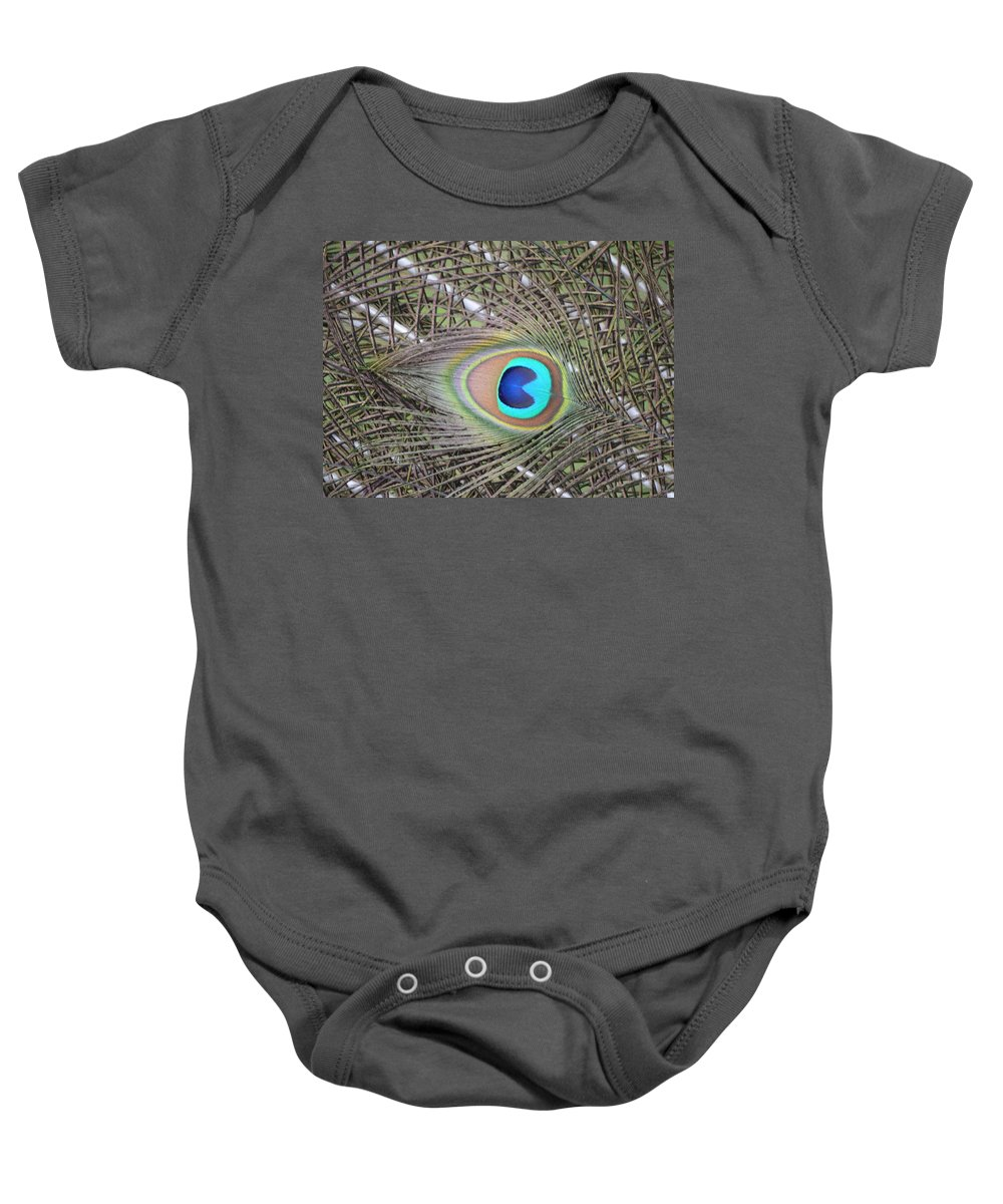 Nature Baby Onesie featuring the photograph eye by Brad Kennedy