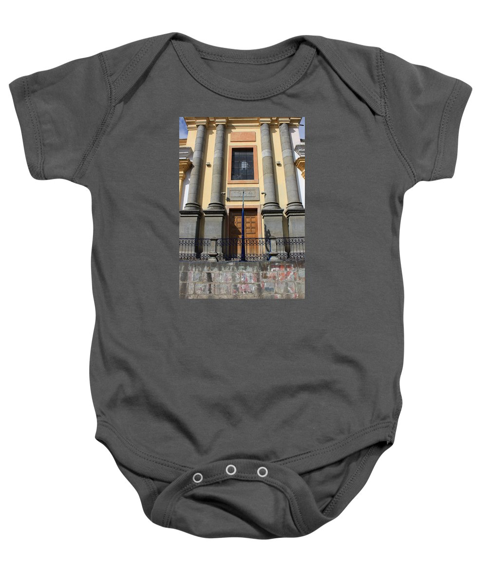 Facade Baby Onesie featuring the photograph Facade Of A Building by Robert Hamm