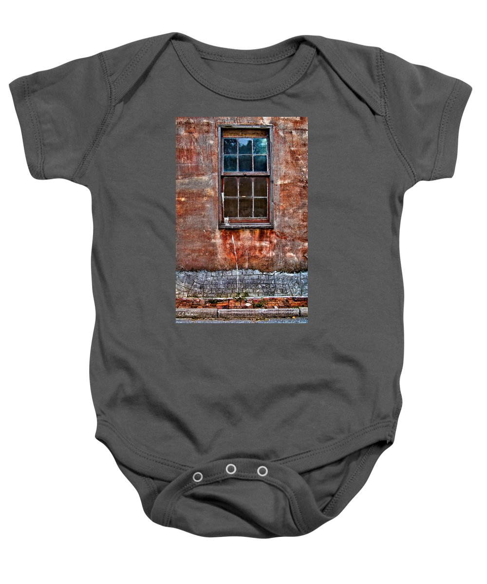 Window Baby Onesie featuring the photograph Faded Over Time by Christopher Holmes