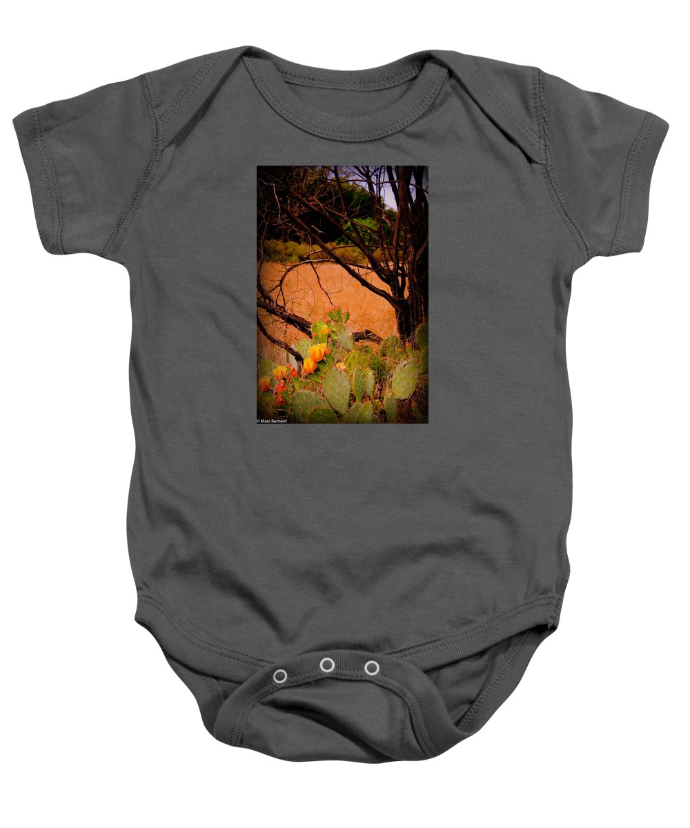 Cactus Baby Onesie featuring the photograph Fading Cactus by Marc Bement