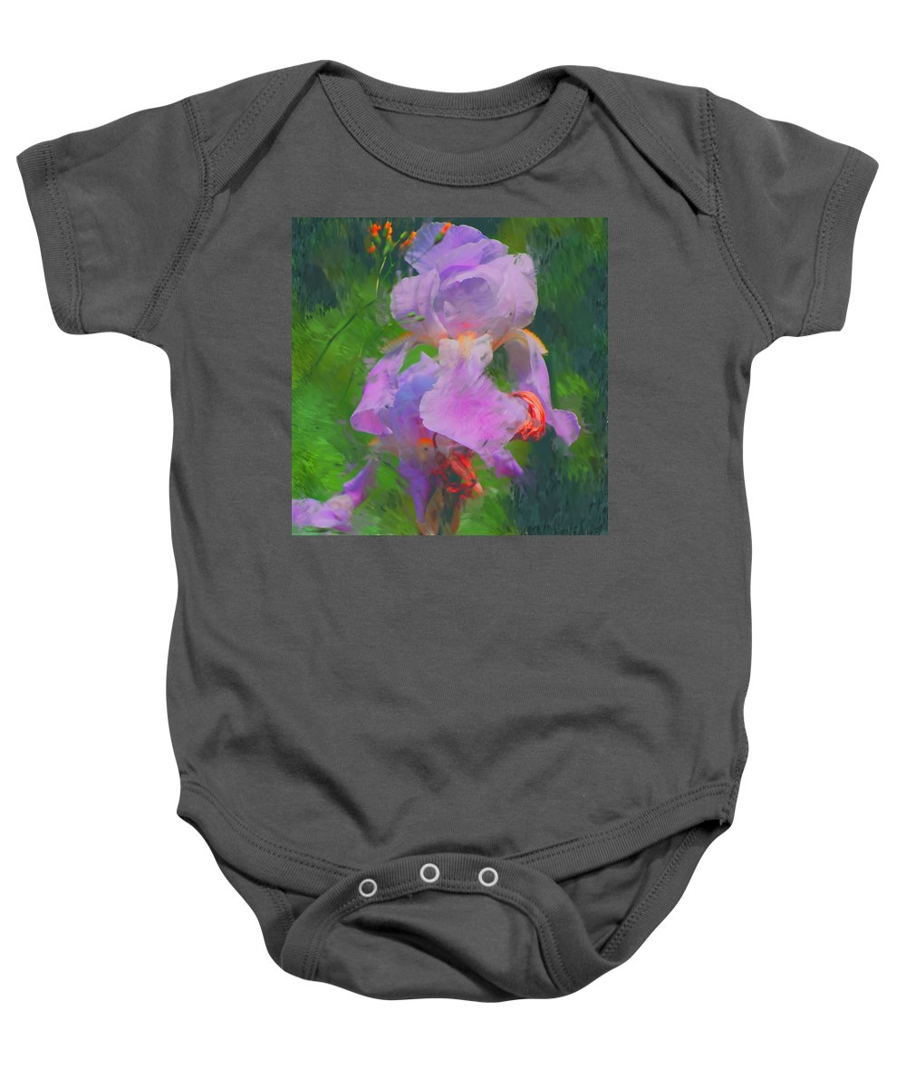 Iris Baby Onesie featuring the painting Fading Glory by David Lane