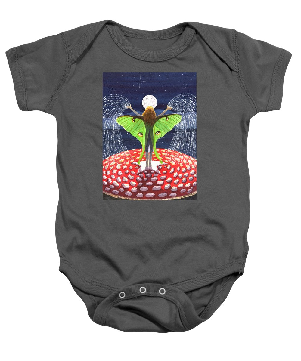 Fairy Baby Onesie featuring the painting Fairy Dust by Catherine G McElroy