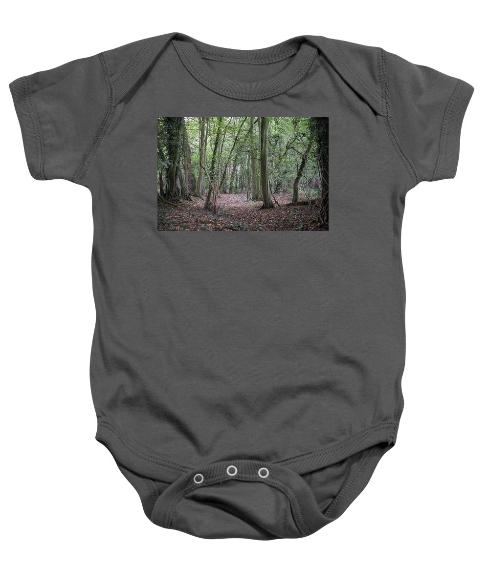 Nature Baby Onesie featuring the photograph Fairytale Forest by Ratna Bosch