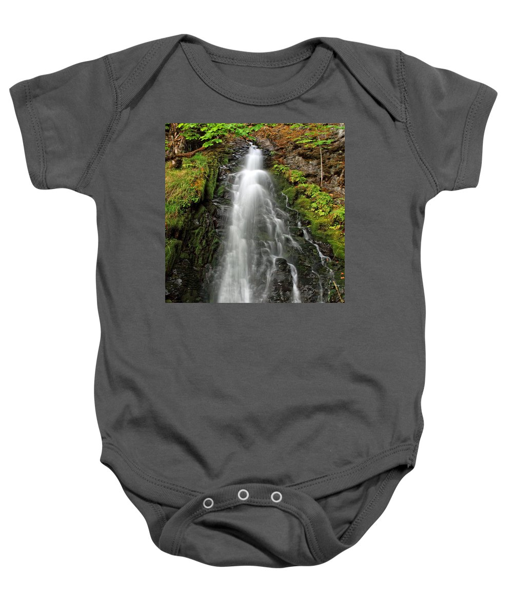 Clearwater Falls Baby Onesie featuring the photograph Fall Creek Falls 3 by Ingrid Smith-Johnsen