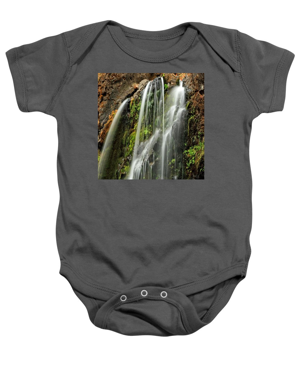 Clearwater Falls Baby Onesie featuring the photograph Fall Creek Falls 4 by Ingrid Smith-Johnsen