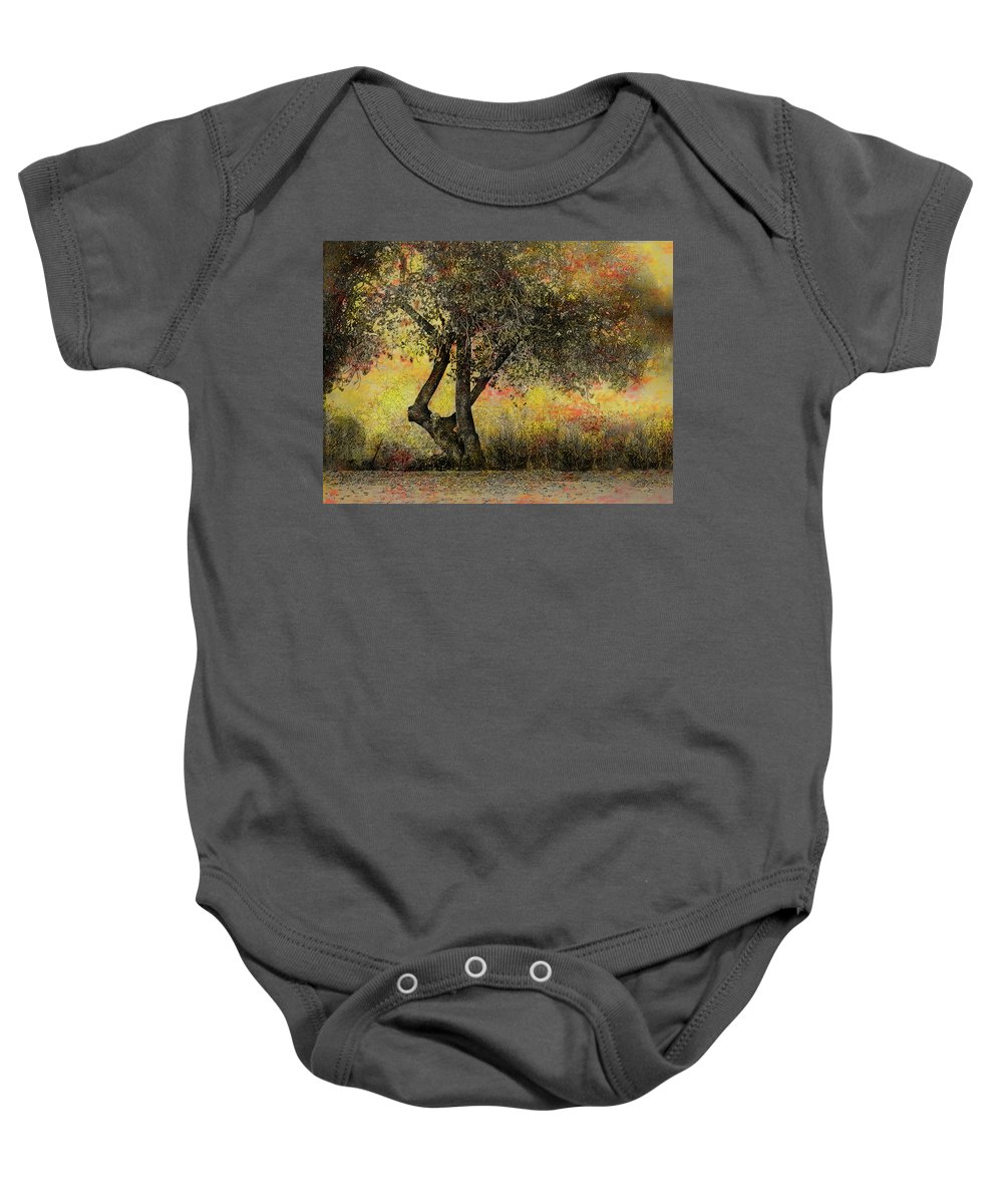 Tree Baby Onesie featuring the photograph Fall Fantasy by Lynn Andrews
