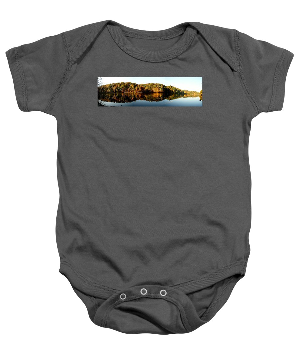 Fall Baby Onesie featuring the photograph Fall In Indiana by Carol Milisen