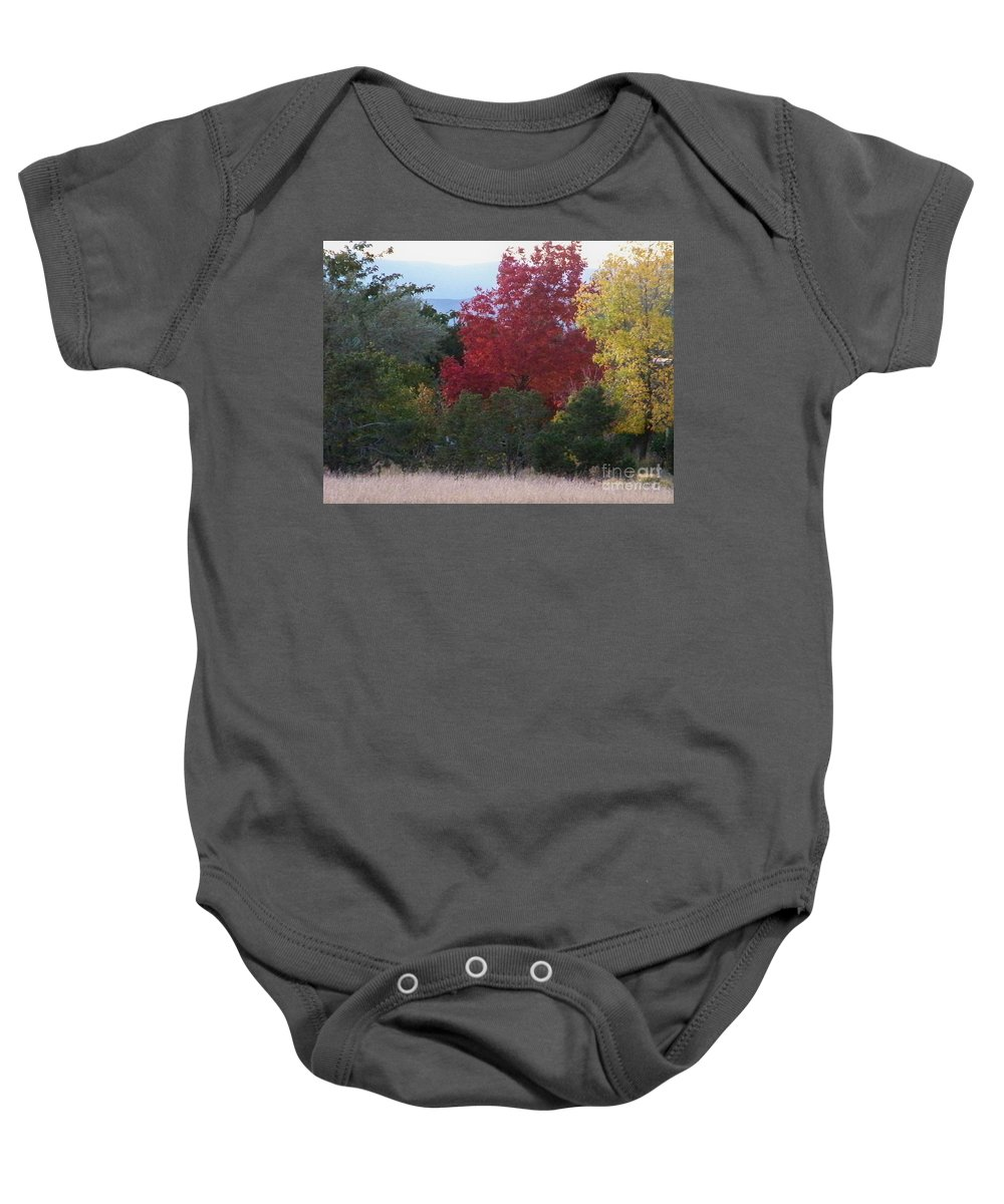 Fall Baby Onesie featuring the photograph Fall In Santa Fe by Brian Commerford