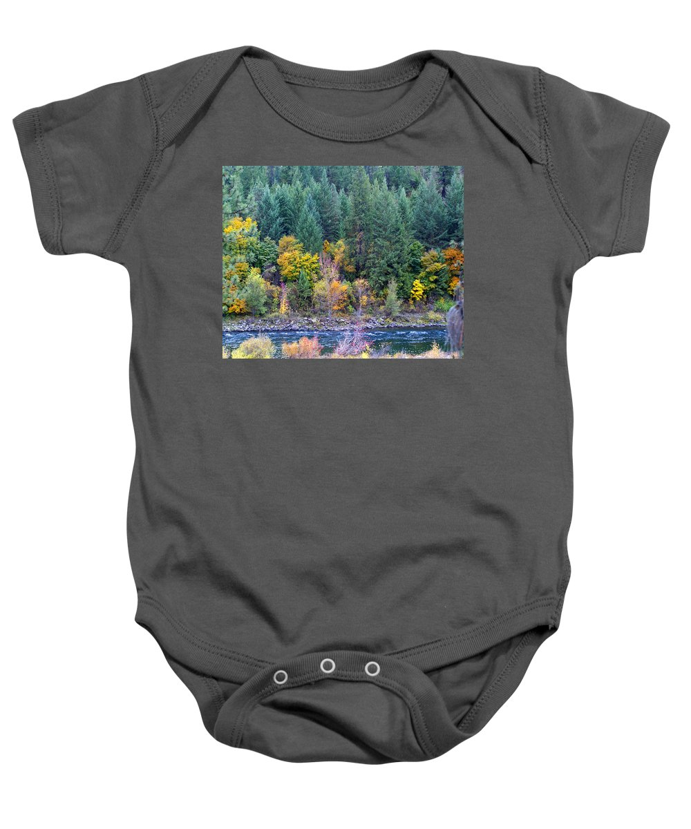 Nature Baby Onesie featuring the photograph Fall In Spokane by Ben Upham III