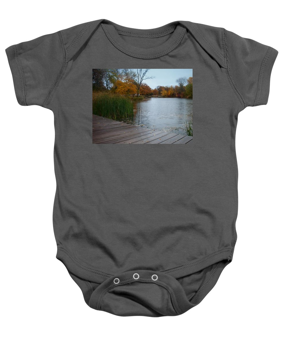 Fall Baby Onesie featuring the photograph Fall Series 10 by Anita Burgermeister