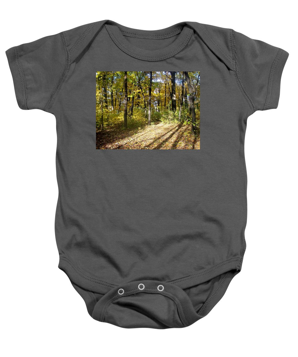 Fall Baby Onesie featuring the photograph Fall Series 2 by Anita Burgermeister