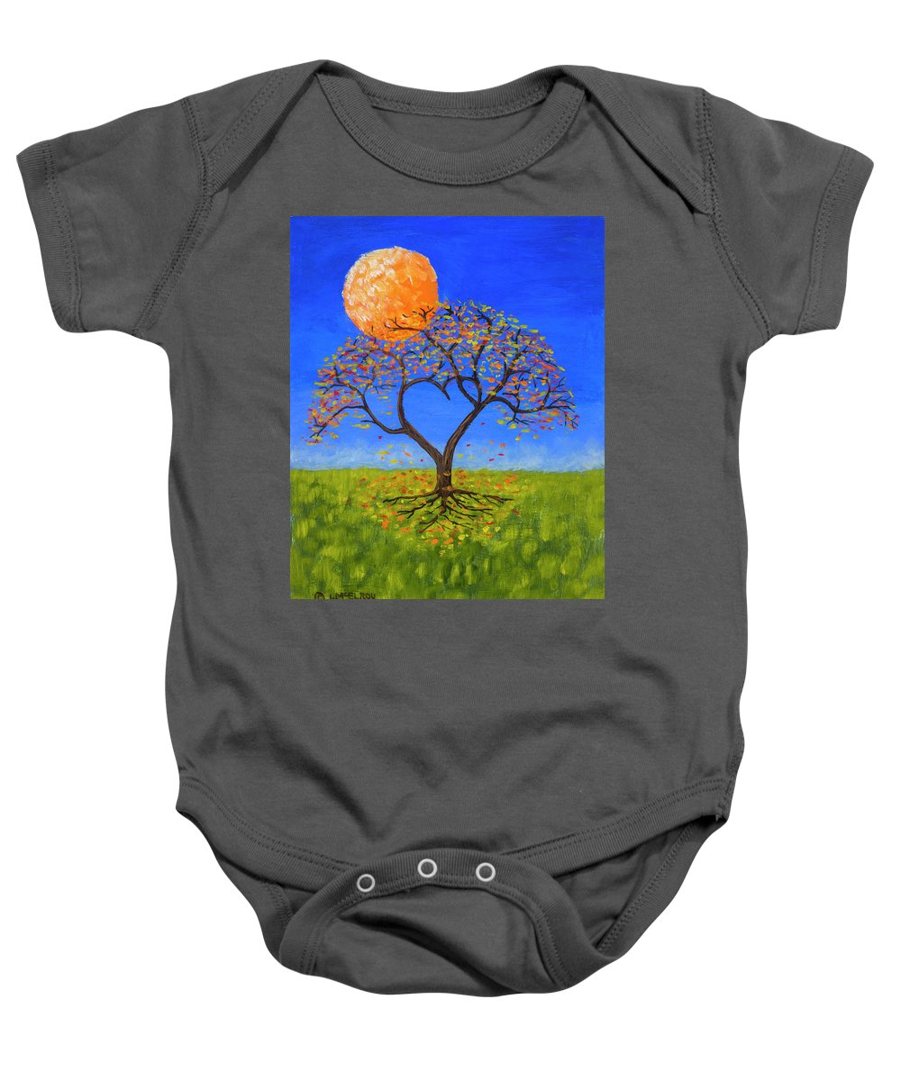 Love Baby Onesie featuring the painting Falling For You by Jerry McElroy