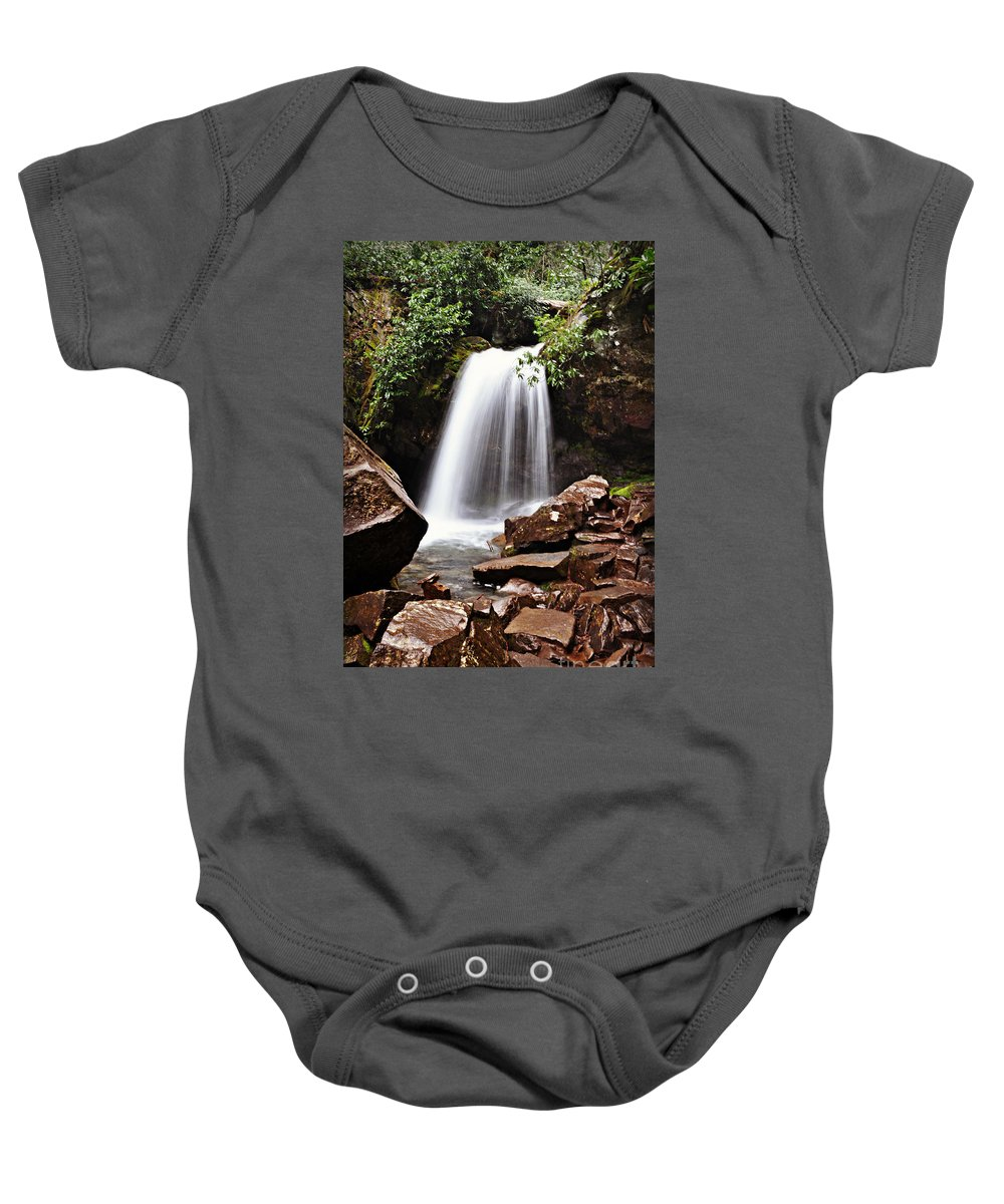 Tennessee Baby Onesie featuring the photograph Falls of Tennessee by Eric Liller
