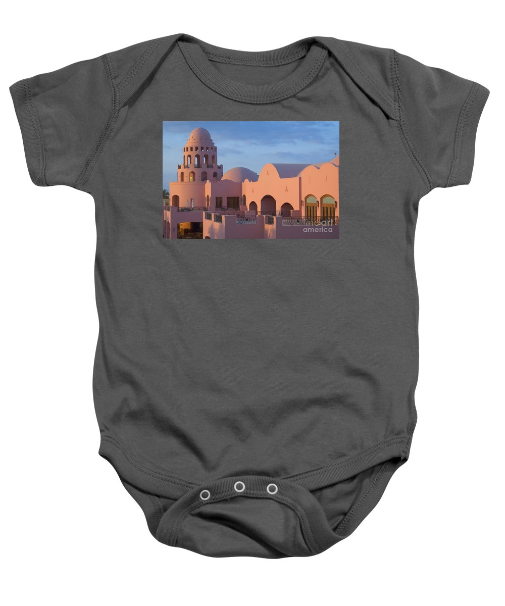 Culture Baby Onesie featuring the photograph Fantasy Castle by Ilan Rosen