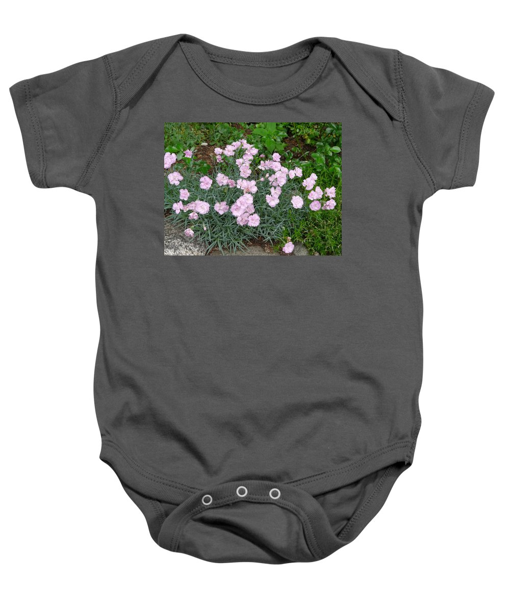 Flower Baby Onesie featuring the photograph Feathered Pink by Valerie Ornstein