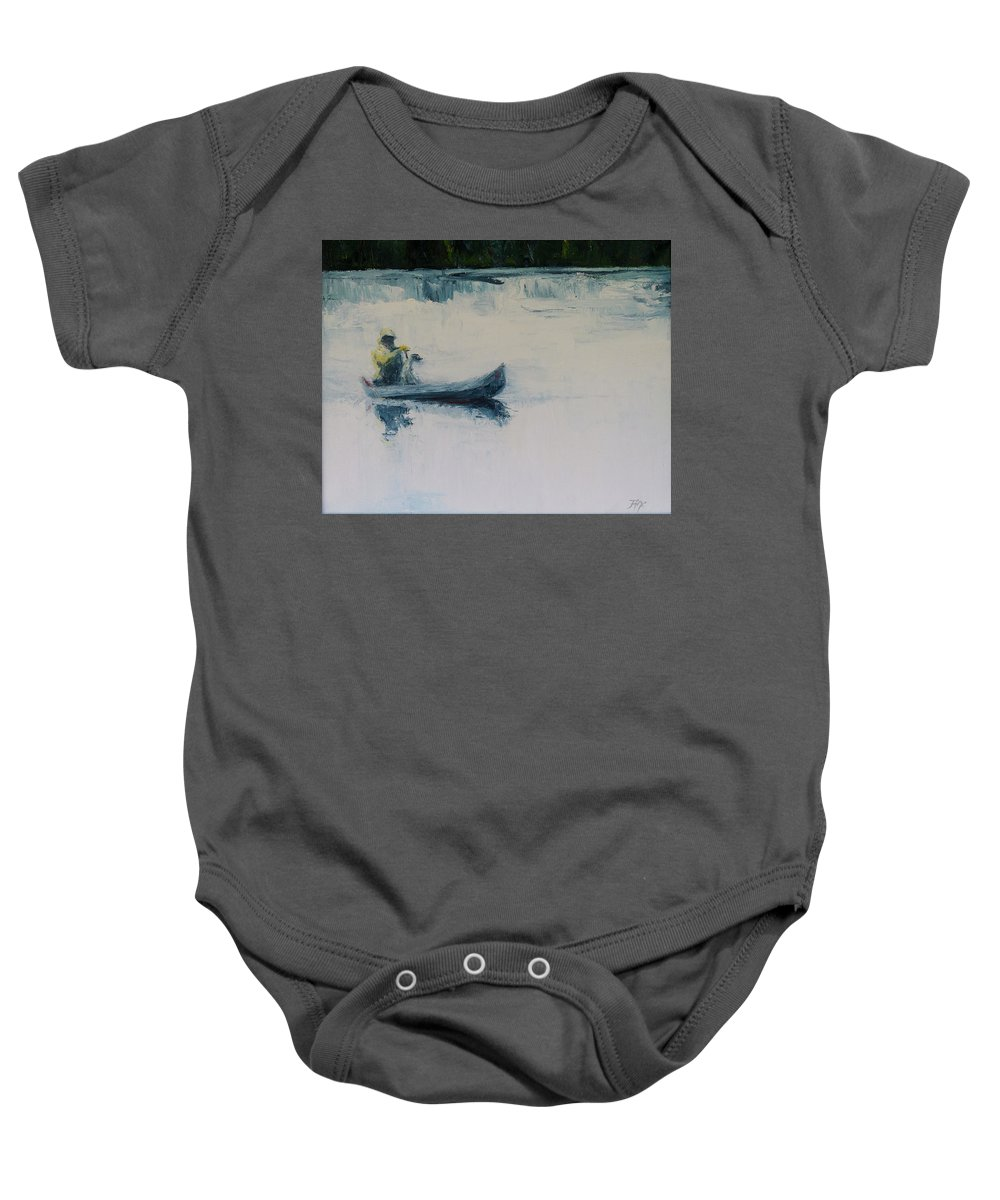 Landscape Baby Onesie featuring the painting Fellow Travelers by Jan Hix