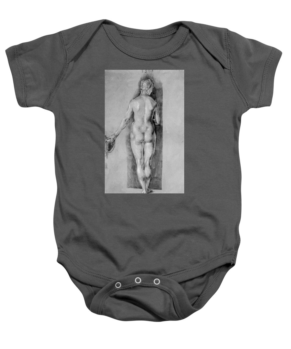 Female Baby Onesie featuring the painting Female Nude 1506 by Durer Albrecht