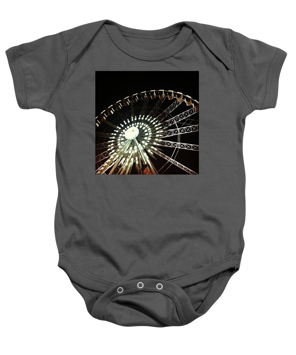 Ferris Wheel Baby Onesie featuring the photograph Ferris Wheel by Claire Kenney