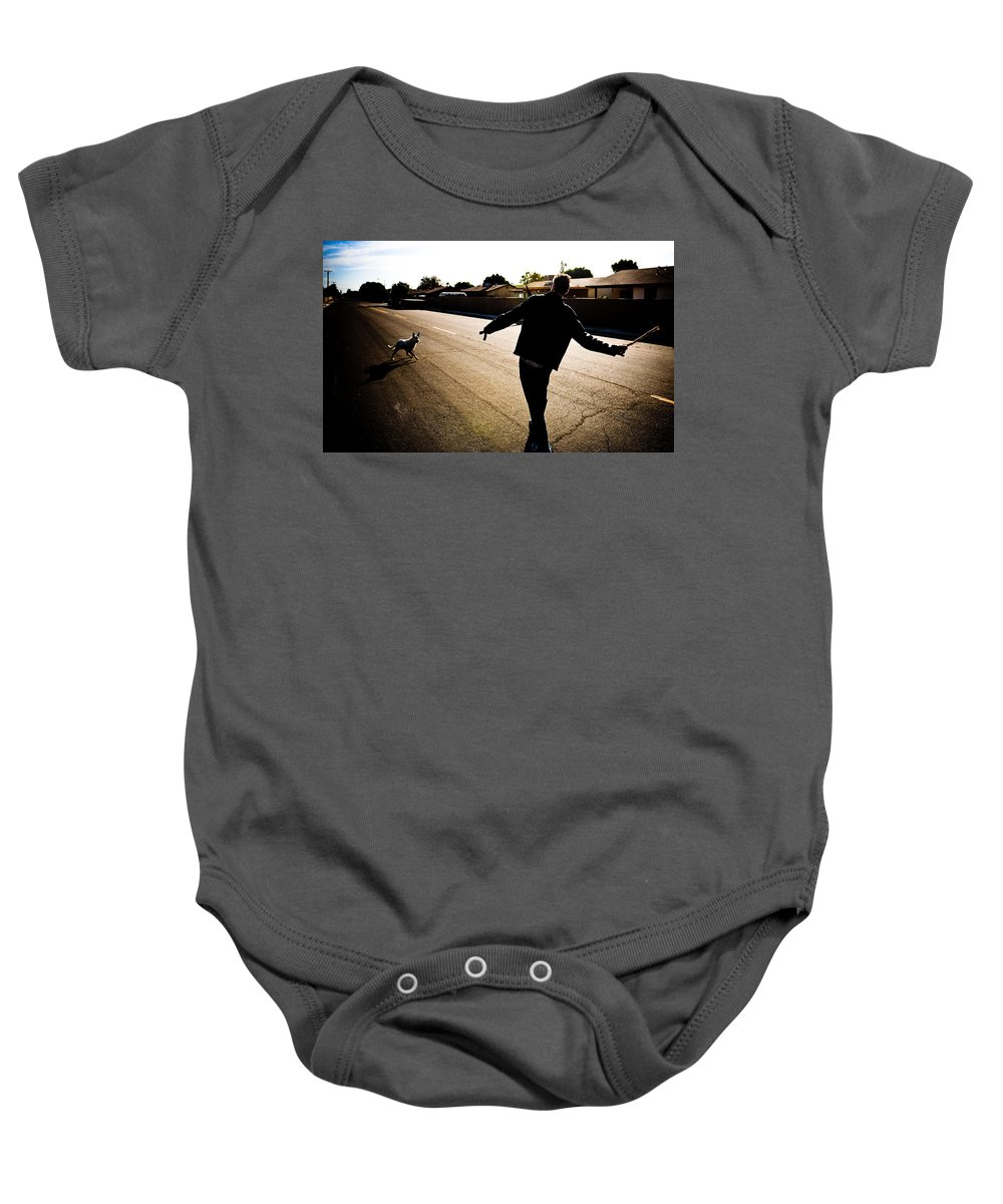Fetch Baby Onesie featuring the photograph Fetch by Scott Sawyer