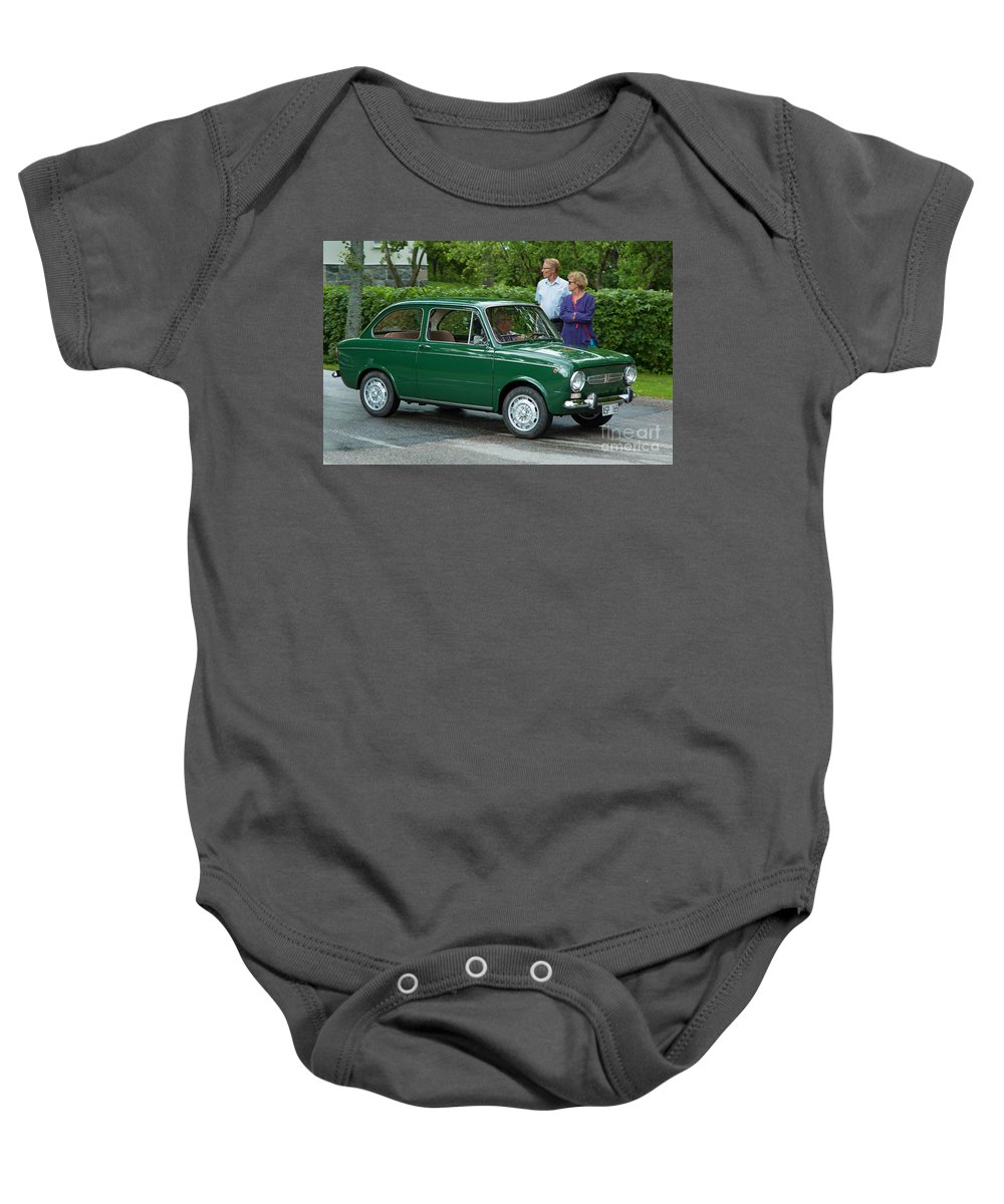 Fiat 850 Special Baby Onesie featuring the photograph Fiat 850 Special by Allan Wallberg