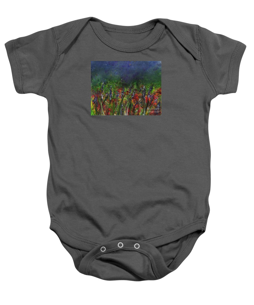 Flowers Baby Onesie featuring the painting Field Of Flowers by Lynn Quinn