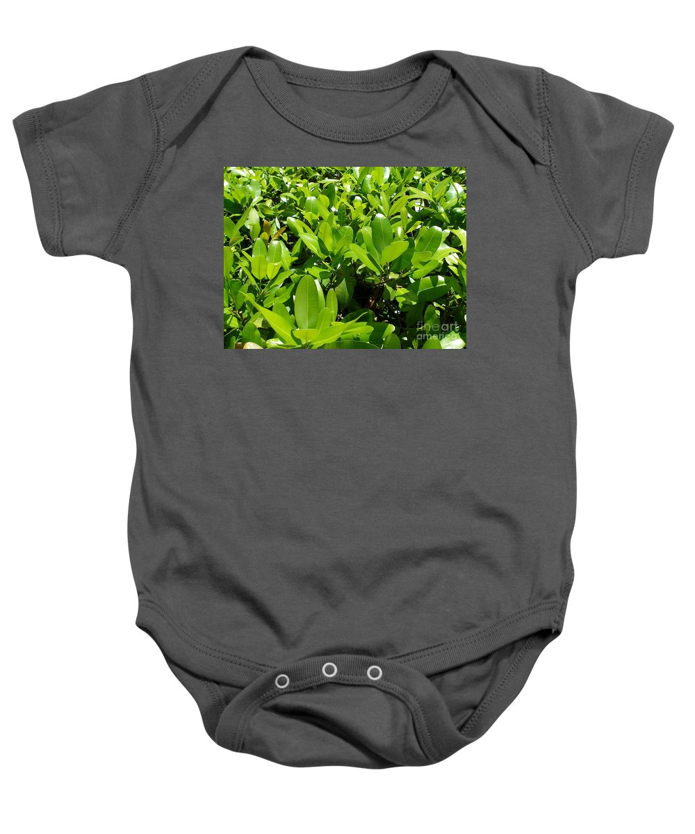 Shrub Baby Onesie featuring the photograph Field Of Green by Maria Bonnier-Perez