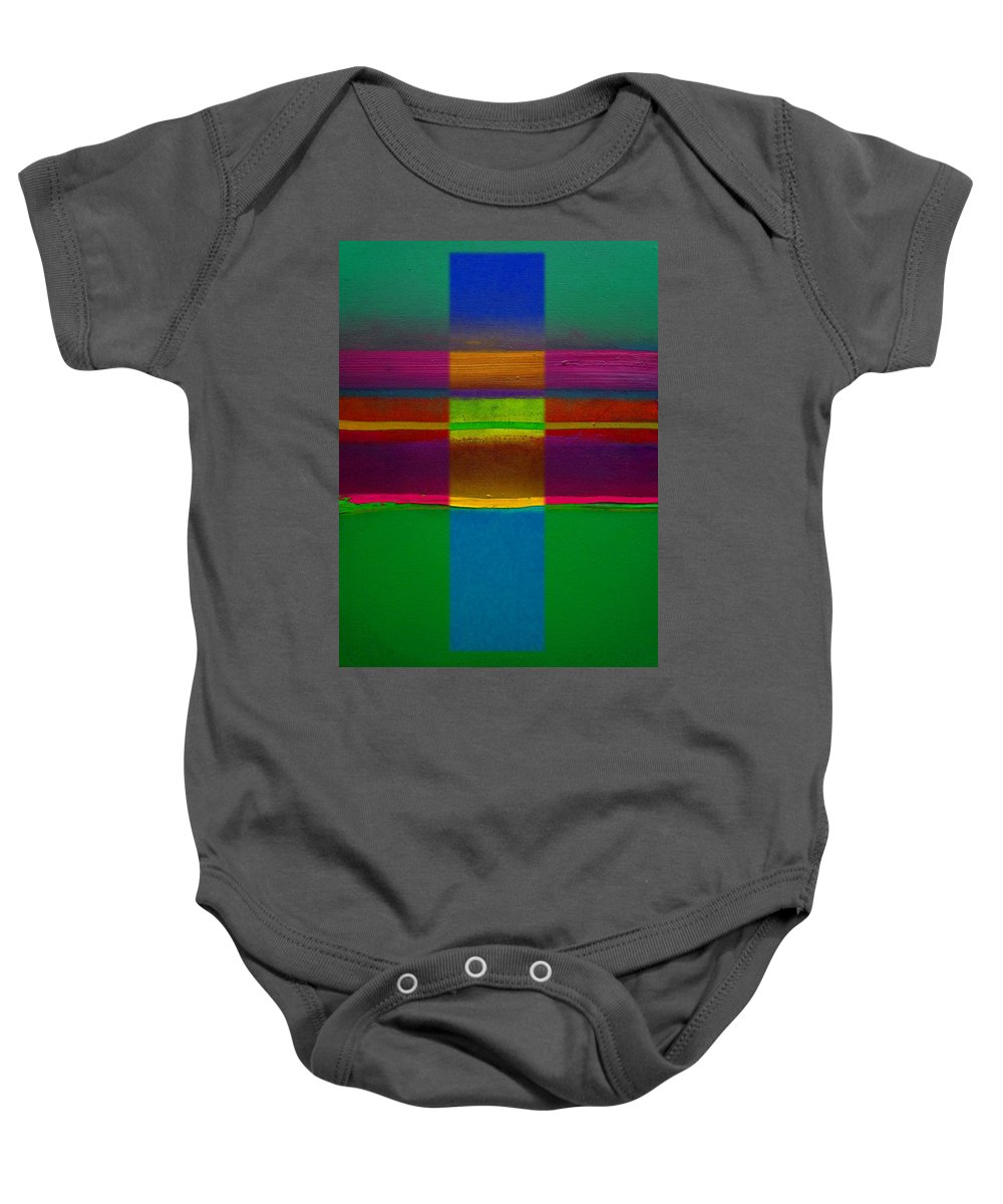 Landscape Baby Onesie featuring the painting Fields Of Green by Charles Stuart
