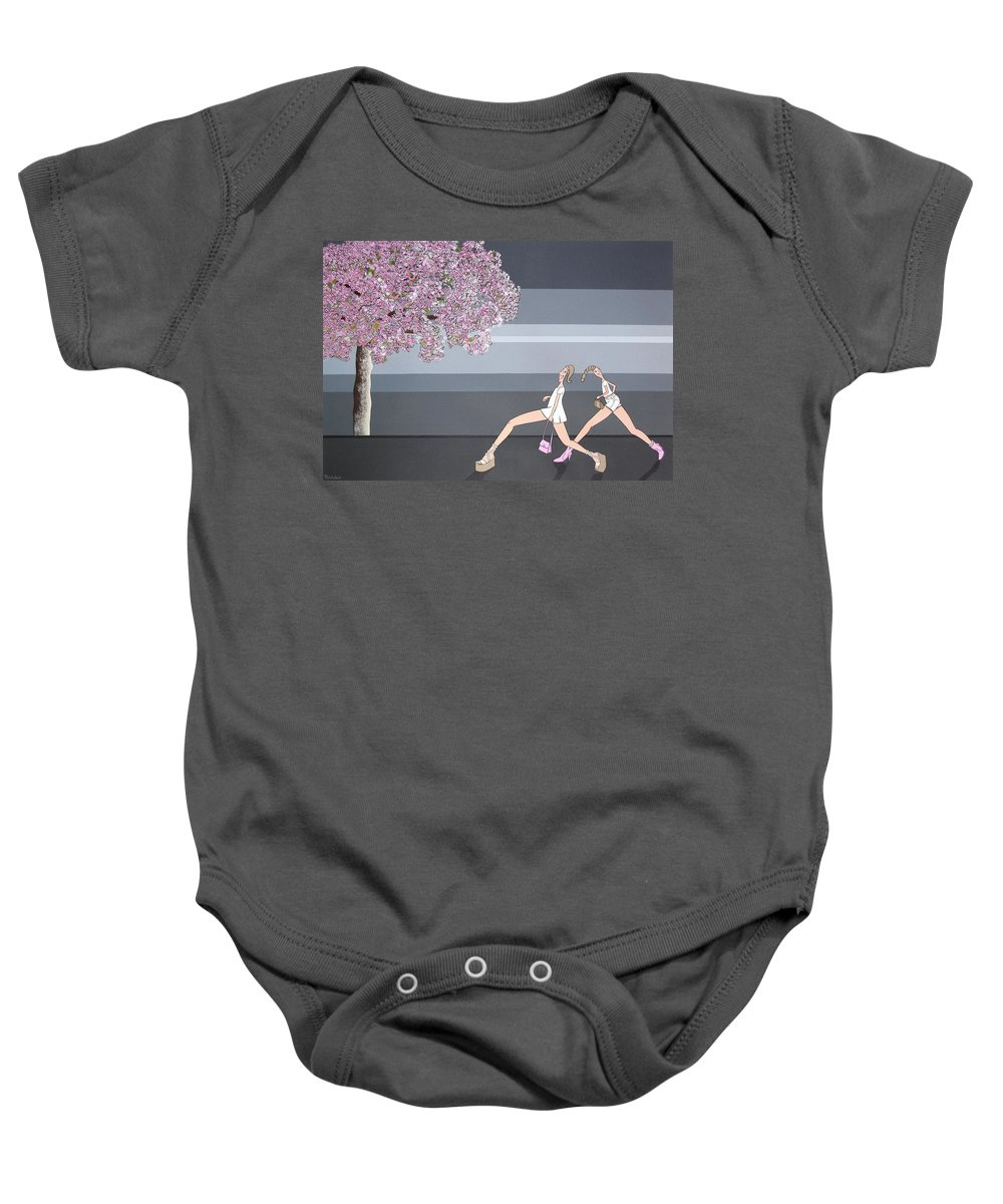 Girls Baby Onesie featuring the painting Fifteen by Patricia Van Lubeck