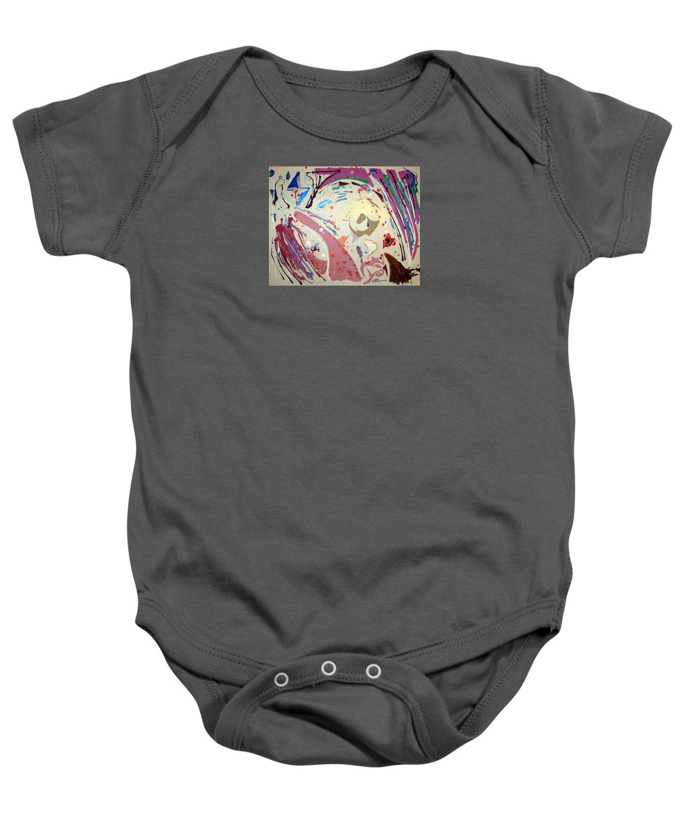 Impressionist Painting Baby Onesie featuring the painting Filling That Hole In The Heart And Saying Sweet Nothings by J R Seymour