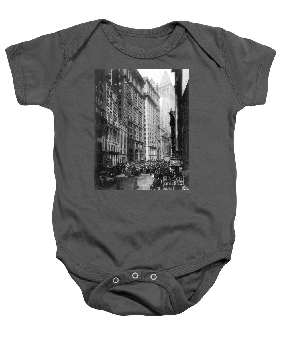 1920 Baby Onesie featuring the photograph Financial Center, C1920 by Granger