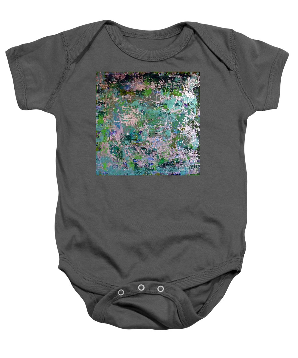 Finding Myself Baby Onesie featuring the painting Finding Myself by Dawn Hough Sebaugh