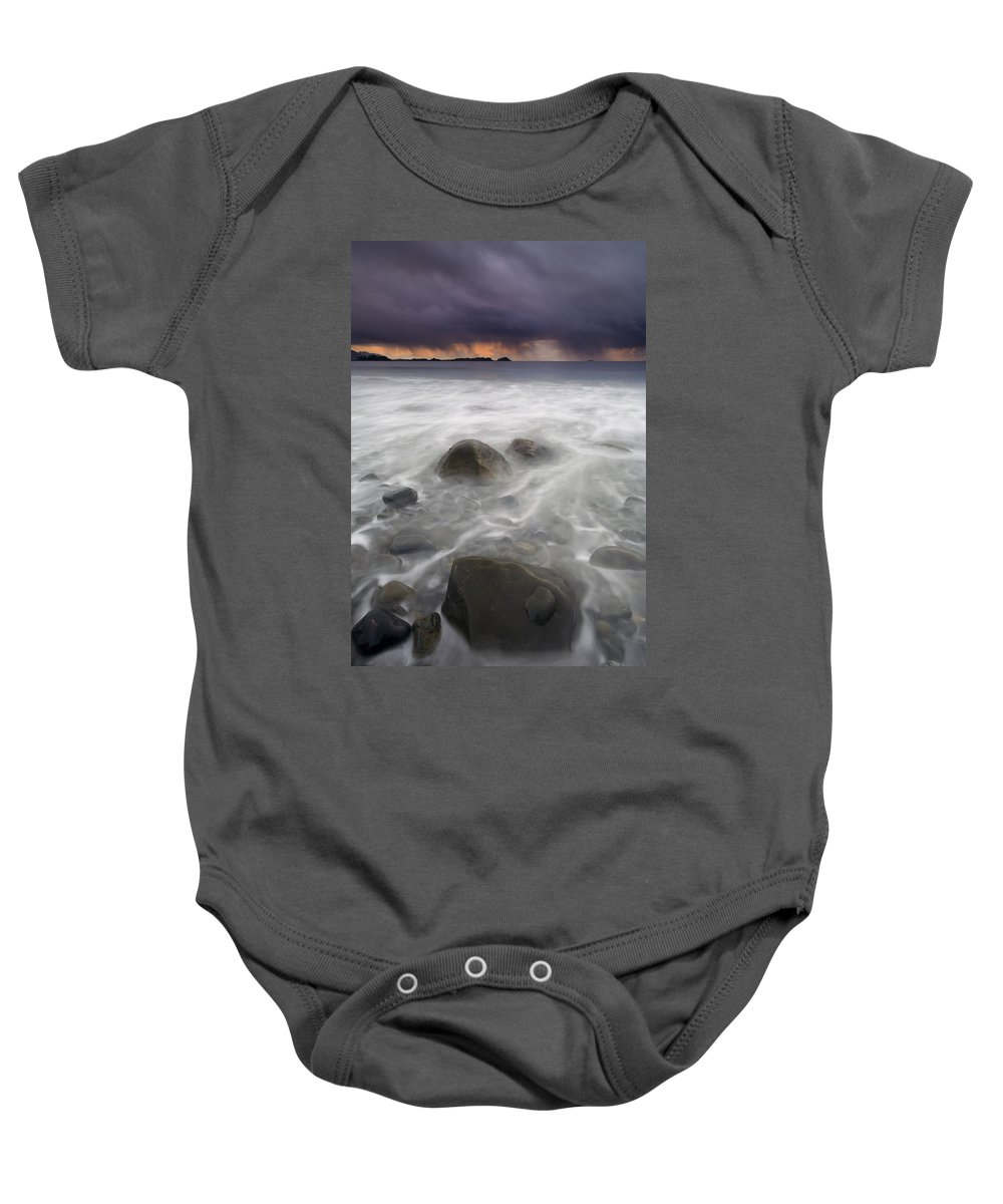 Storm Baby Onesie featuring the photograph Fingers Of The Storm by Mike Dawson