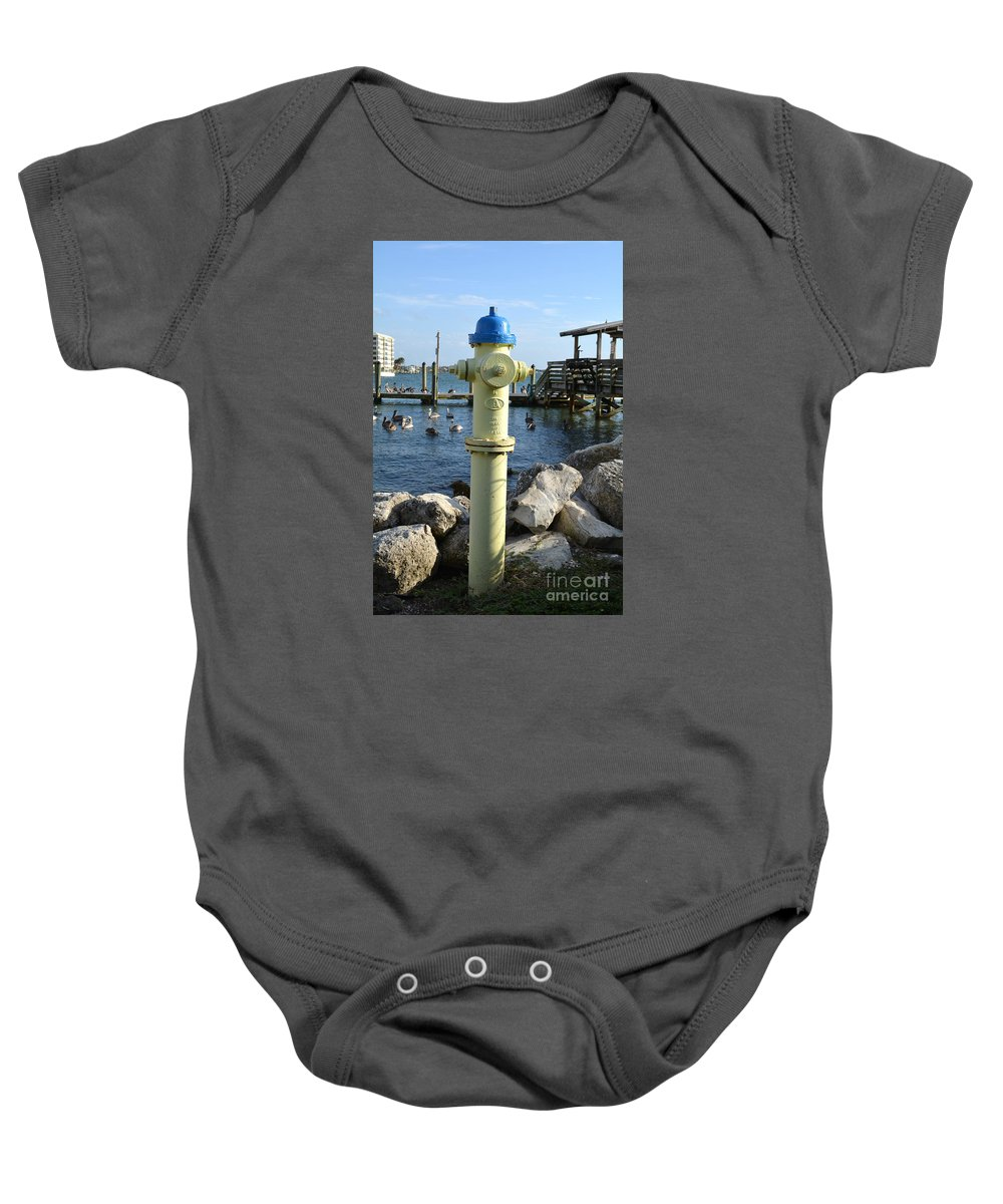 Fire Hydrant Baby Onesie featuring the photograph Fire Hydrant by To-Tam Gerwe