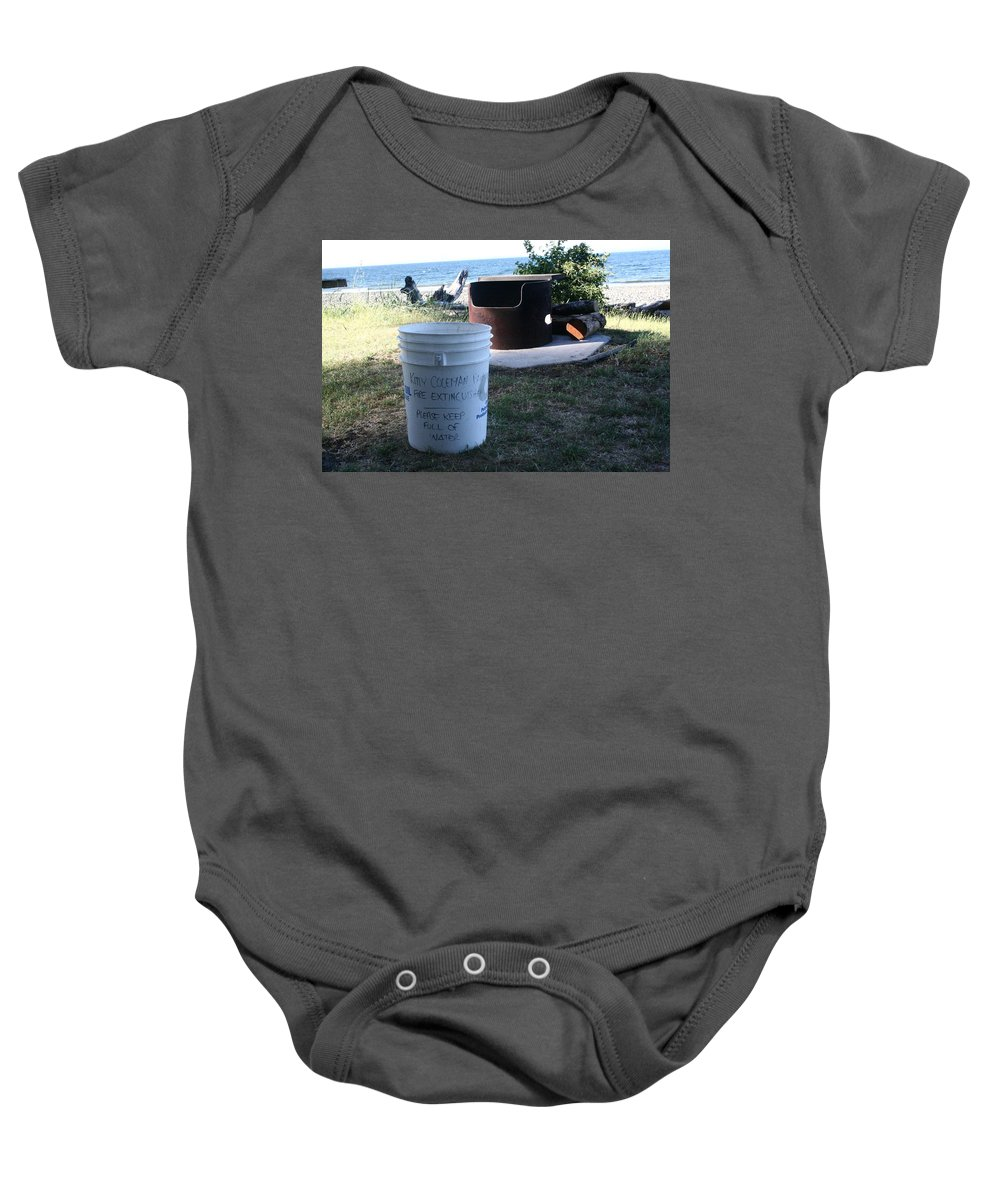 Fire Prevention Baby Onesie featuring the digital art Fire Prevention - Vanvouver Island - Ca by Joseph Coulombe