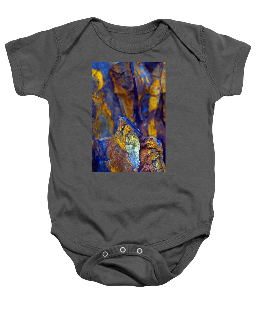 Texture Baby Onesie featuring the photograph First Cut Is The Deepest by Skip Hunt