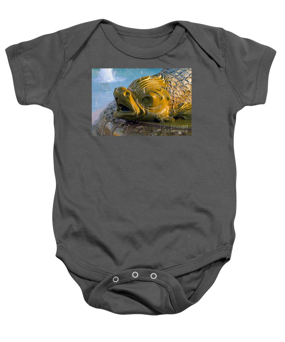 Fish Baby Onesie featuring the photograph Fish Out Of Water by David Lee Thompson