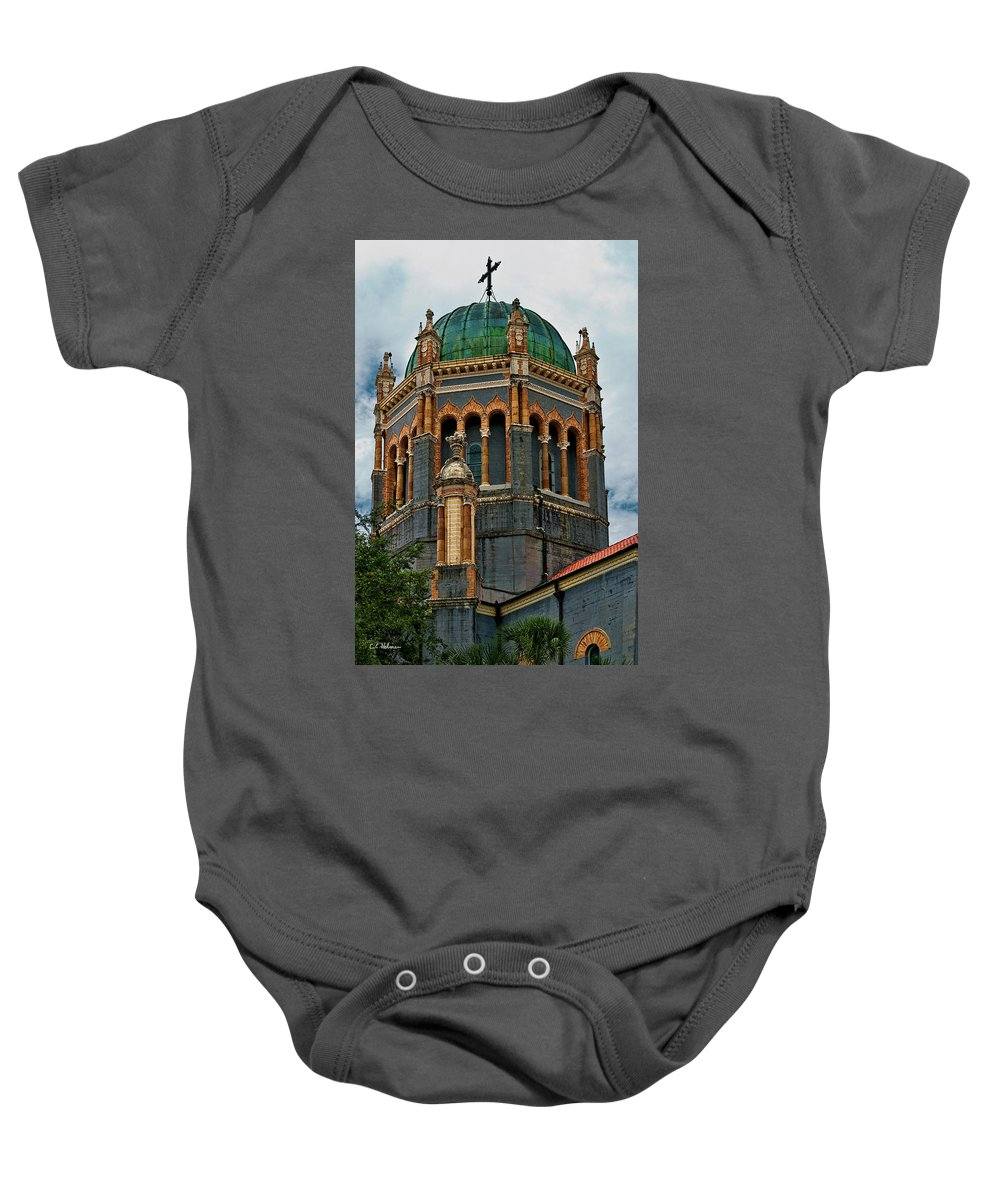 Church Baby Onesie featuring the photograph Flagler Memorial Presbyterian Church 3 by Christopher Holmes