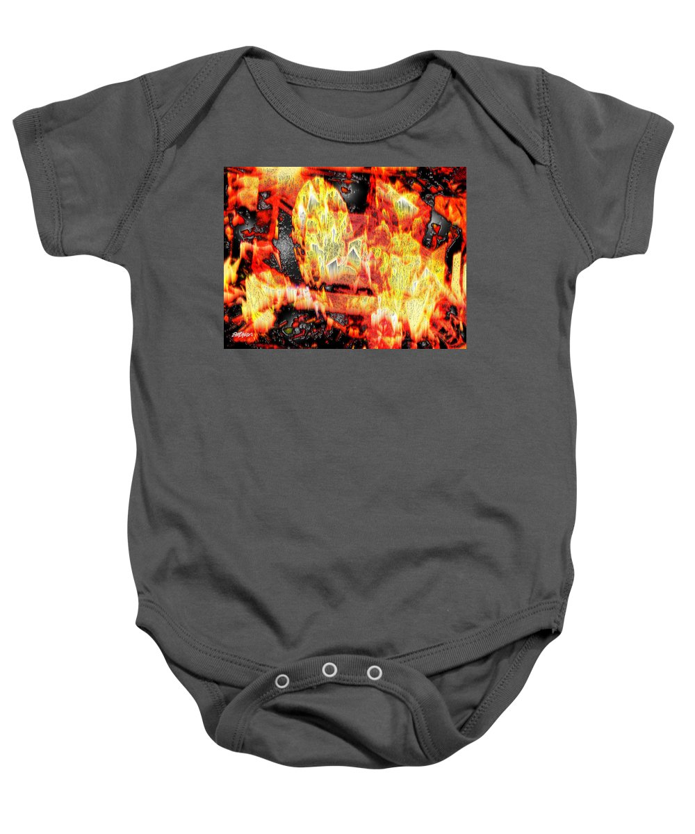 Abstract Baby Onesie featuring the photograph Flame Gems by Seth Weaver