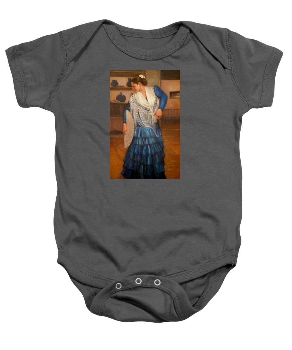 Realism Baby Onesie featuring the painting Flamenco 2 by Donelli DiMaria