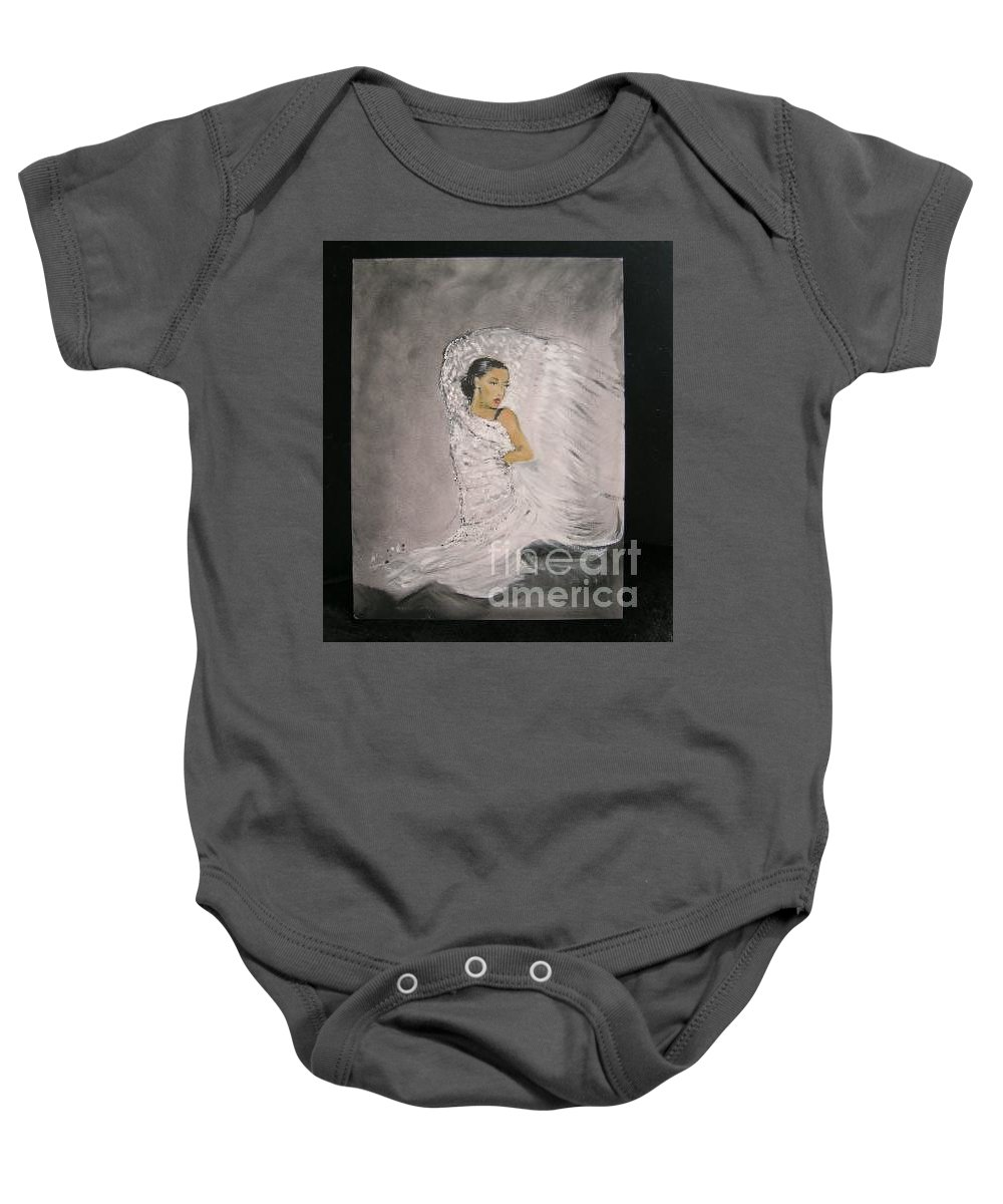Spain Baby Onesie featuring the painting Flamenco by Lizzy Forrester