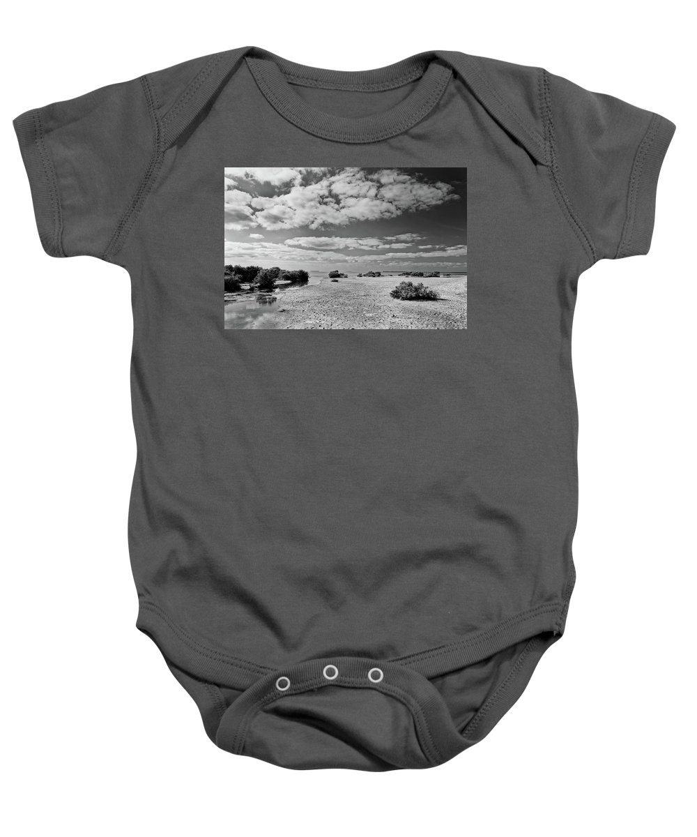 Bay Baby Onesie featuring the photograph Flamingo Point by Rudy Umans