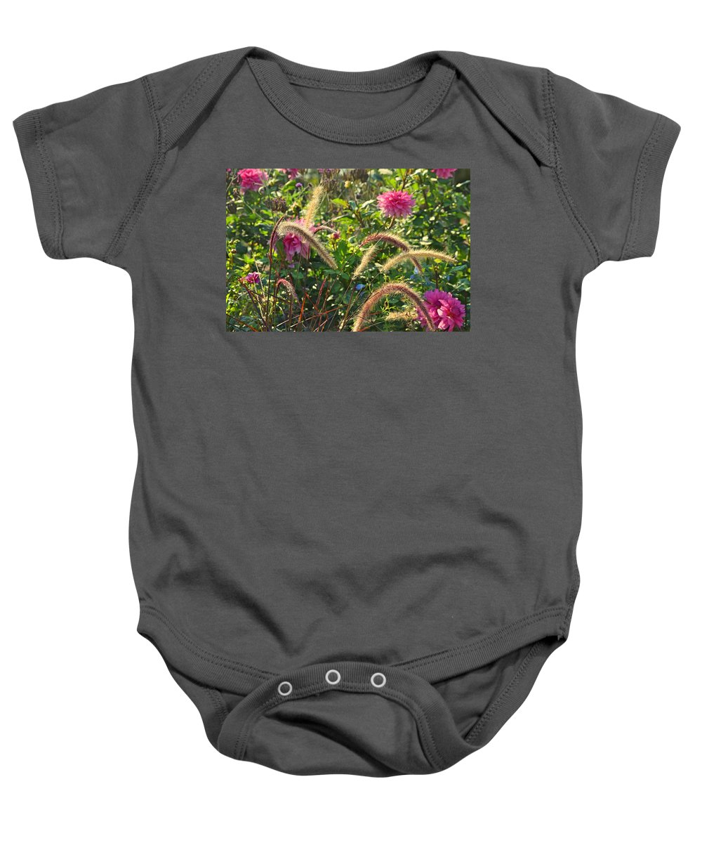 Field Flowers Baby Onesie featuring the photograph Fleurs Des Champs by Valerie Dauce