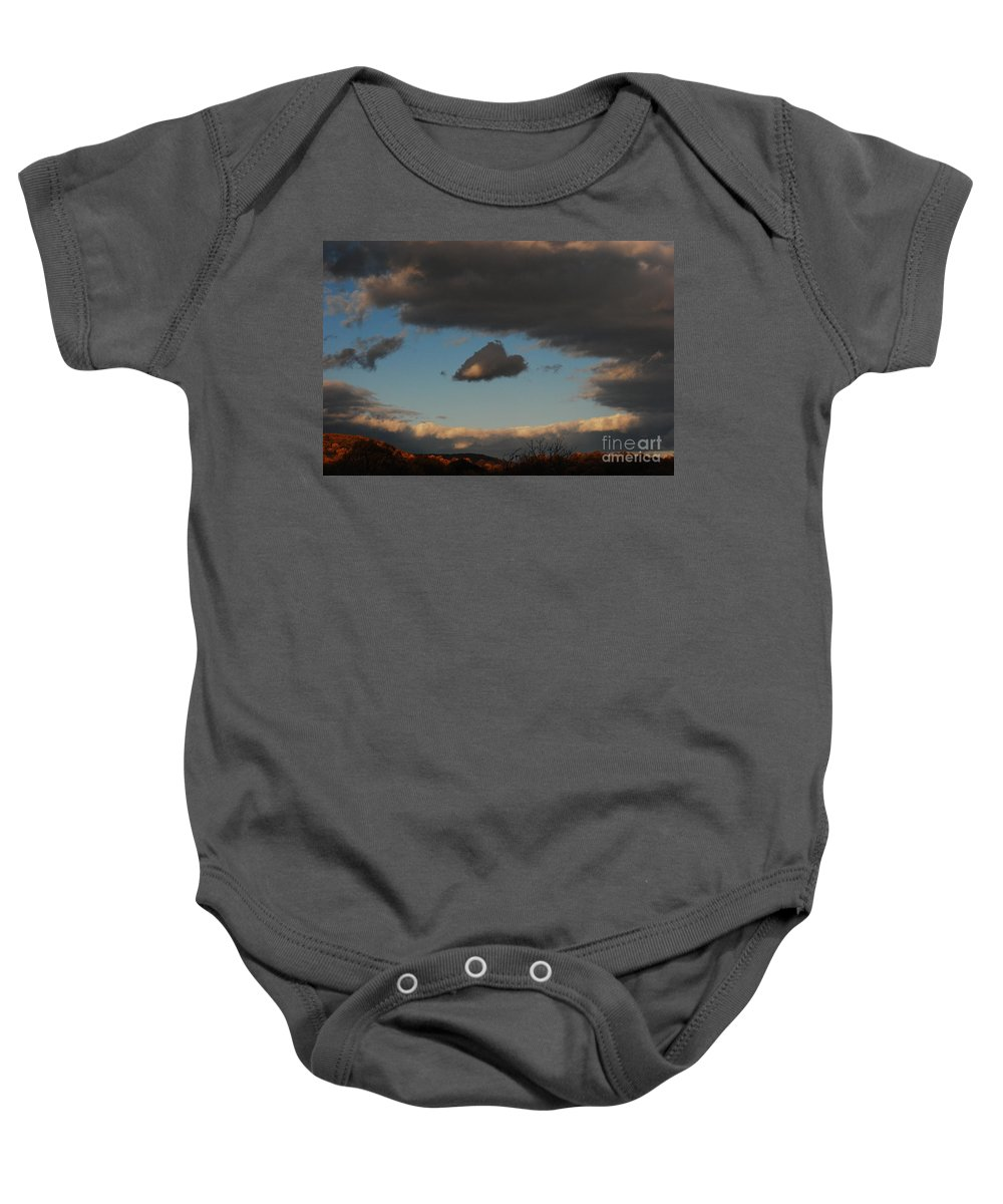 Heart Baby Onesie featuring the photograph Floating Heart by Lori Tambakis