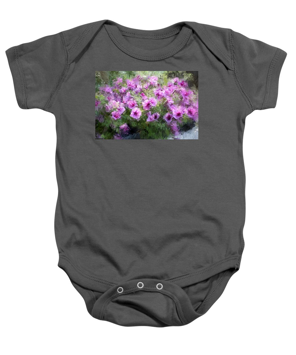 Digital Photography Baby Onesie featuring the photograph Floral Study 053010 by David Lane