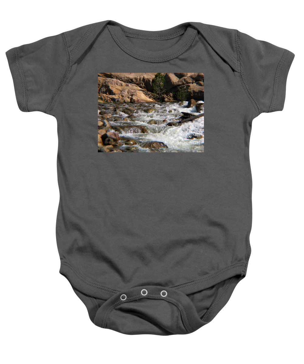 River Baby Onesie featuring the photograph Flow by Amanda Barcon