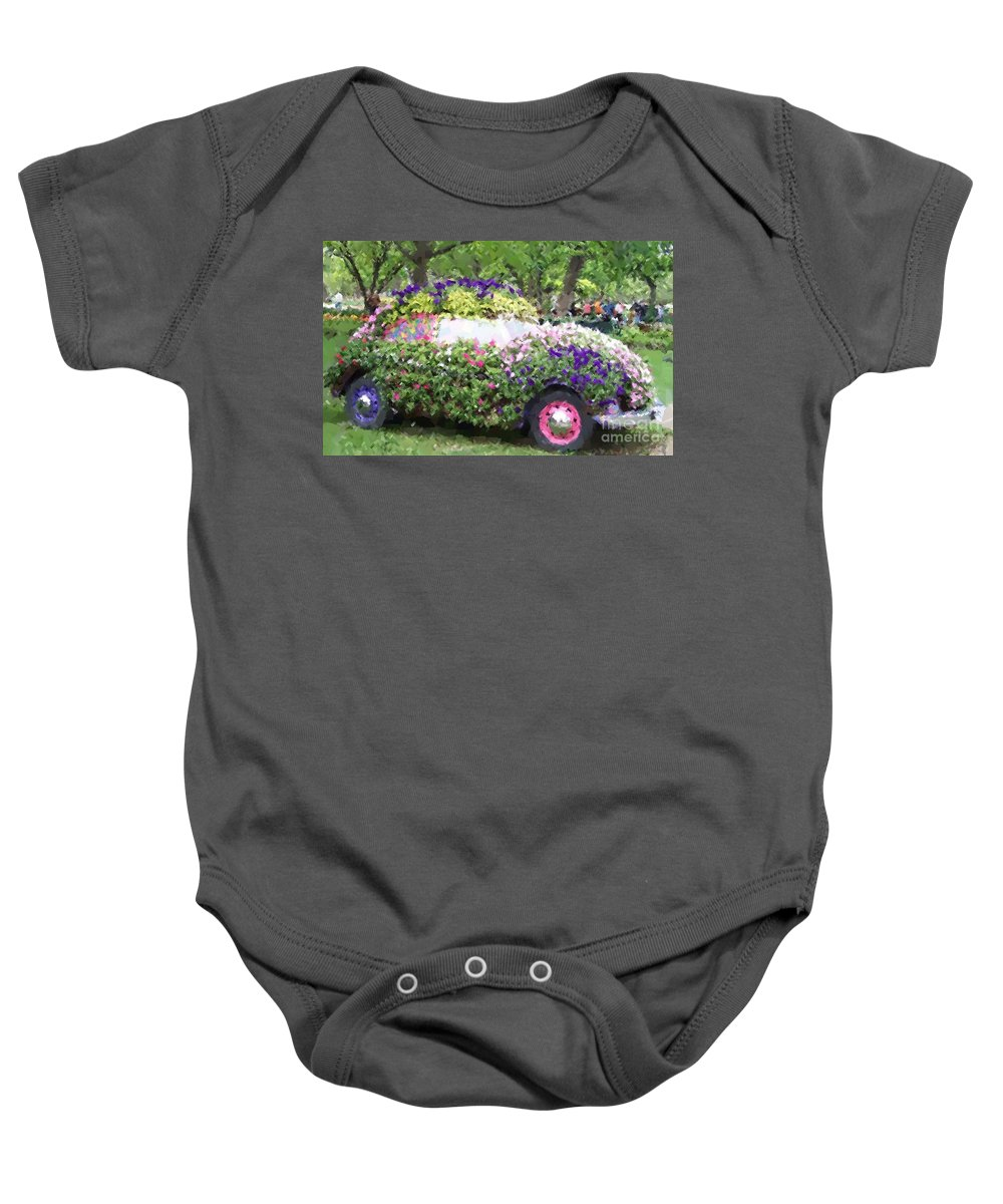 Cars Baby Onesie featuring the photograph Flower Power by Debbi Granruth